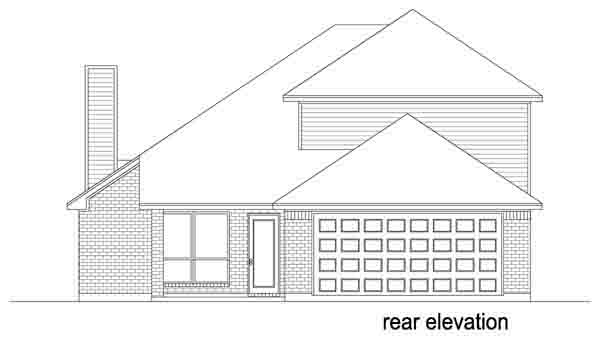 Traditional House Plan 88632 Rear Elevation