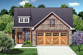 House Plan 88634 | Craftsman Farmhouse Style Plan with 1163 Sq Ft, 3 Bedrooms, 2 Bathrooms, 2 Car Garage Elevation