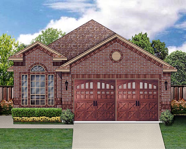 Traditional House Plan 88635 with 3 Beds, 2 Baths, 2 Car Garage Elevation