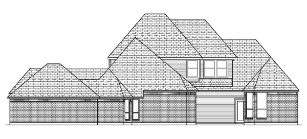 European Tudor Rear Elevation of Plan 88636