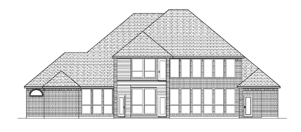 European House Plan 88640 with 4 Beds, 4 Baths, 3 Car Garage Rear Elevation