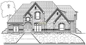 Tudor , European House Plan 88641 with 5 Beds, 6 Baths, 3 Car Garage Elevation