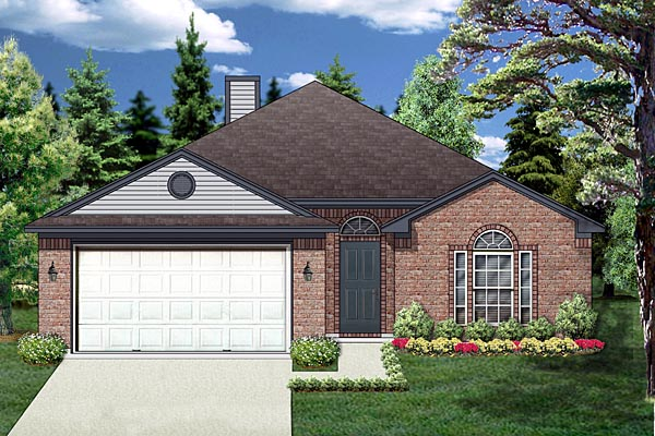 Traditional House Plan 88643 Elevation