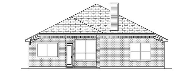 Traditional House Plan 88643 Rear Elevation