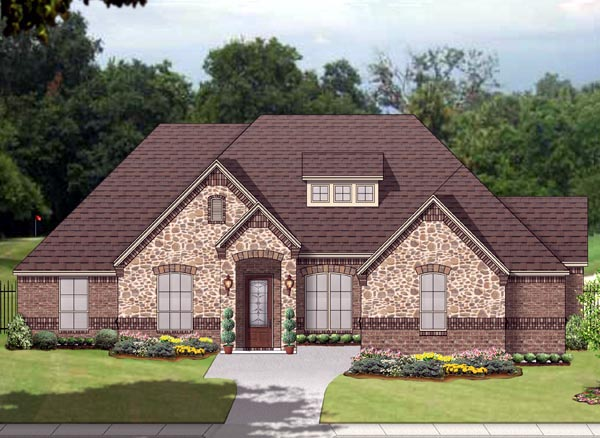 European Traditional House Plan 88645 Elevation