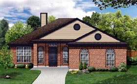 House Plan 88647 | Traditional Style Plan with 1539 Sq Ft, 4 Bedrooms, 2 Bathrooms, 2 Car Garage Elevation