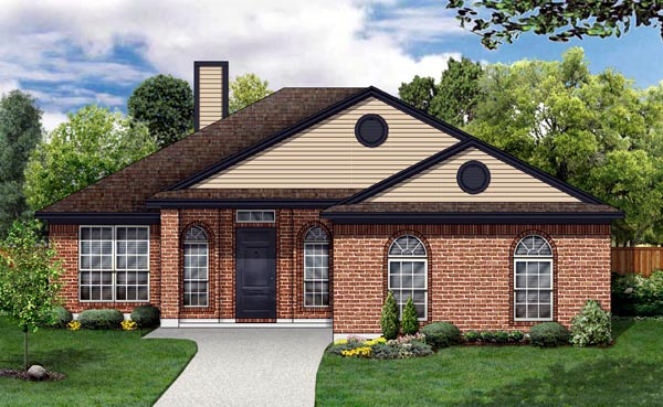 Traditional House Plan 88647 Elevation