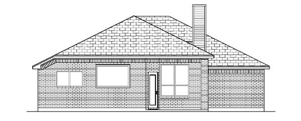 Traditional House Plan 88647 Rear Elevation