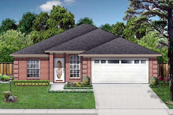 Traditional House Plan 88648 Elevation
