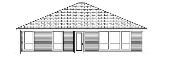 Traditional House Plan 88648 Rear Elevation