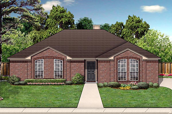 Traditional House Plan 88649 Elevation