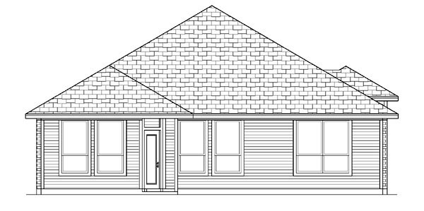 Traditional House Plan 88650 Rear Elevation