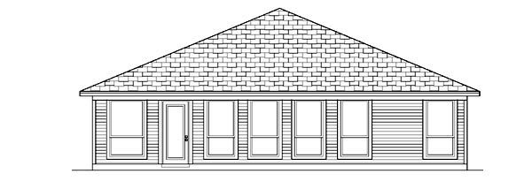 Traditional House Plan 88651 Rear Elevation