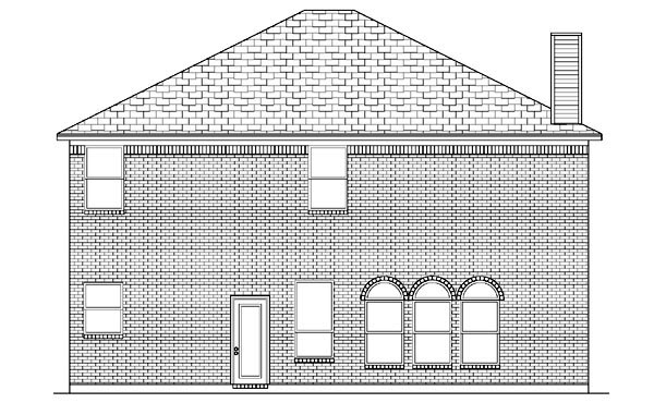 Traditional House Plan 88655 Rear Elevation