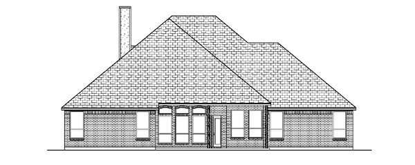 Traditional House Plan 88656 Rear Elevation