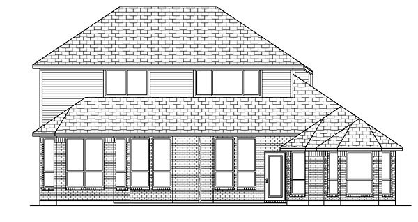 European House Plan 88657 Rear Elevation