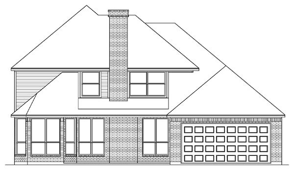 European Tudor House Plan 88659 Rear Elevation