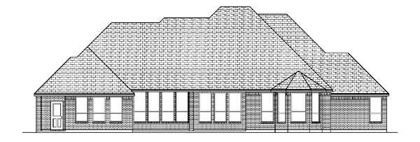 House Plan 88661 | European Tudor Style Plan with 3650 Sq Ft, 4 Bedrooms, 4 Bathrooms, 3 Car Garage Rear Elevation