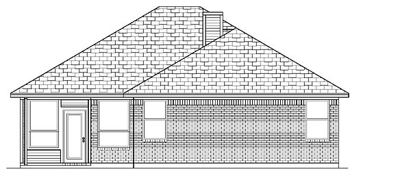 Traditional House Plan 88664 Rear Elevation