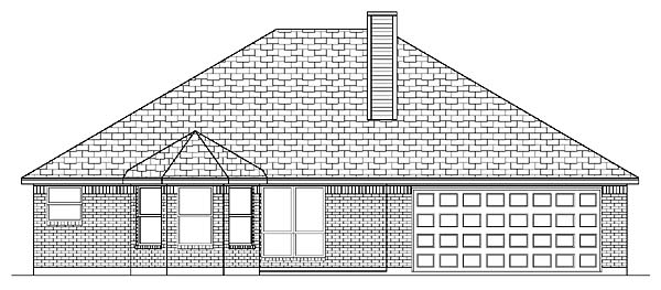 Traditional House Plan 88665 Rear Elevation