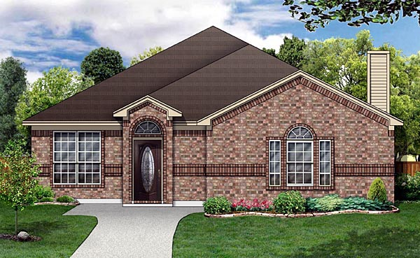 Traditional House Plan 88671 Elevation