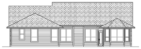 Country House Plan 88672 Rear Elevation