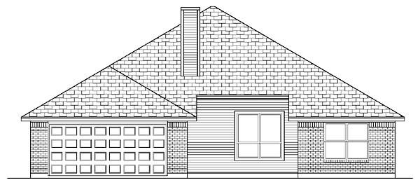 Farmhouse House Plan 88673 Rear Elevation