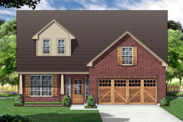 Country House Plan 88674 with 3 Beds, 2 Baths, 2 Car Garage Elevation