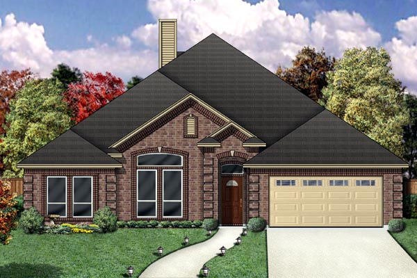 Traditional House Plan 88675 Elevation