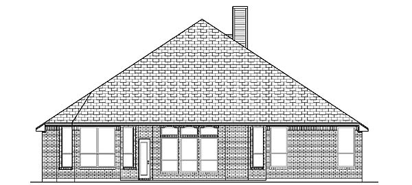 Traditional House Plan 88675 Rear Elevation