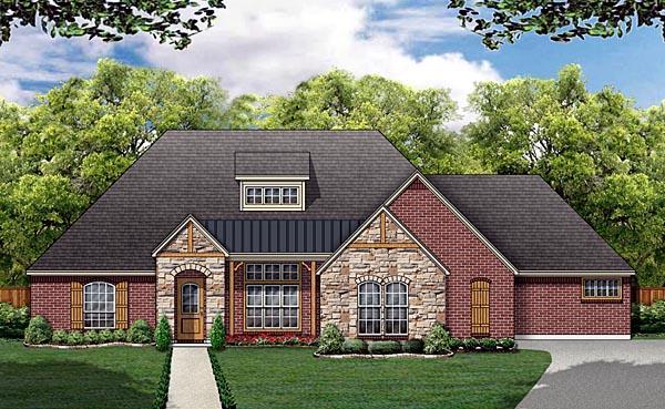 Tudor House Plan 88678 Elevation