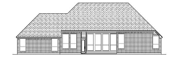 Tudor House Plan 88678 Rear Elevation