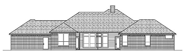 Traditional House Plan 88680 Rear Elevation
