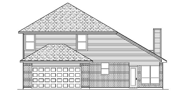 Traditional House Plan 88681 Rear Elevation