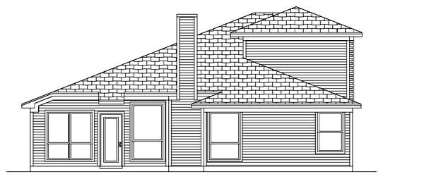 Traditional House Plan 88682 Rear Elevation