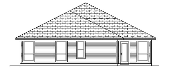Traditional House Plan 88683 Rear Elevation