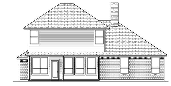 European House Plan 88684 Rear Elevation
