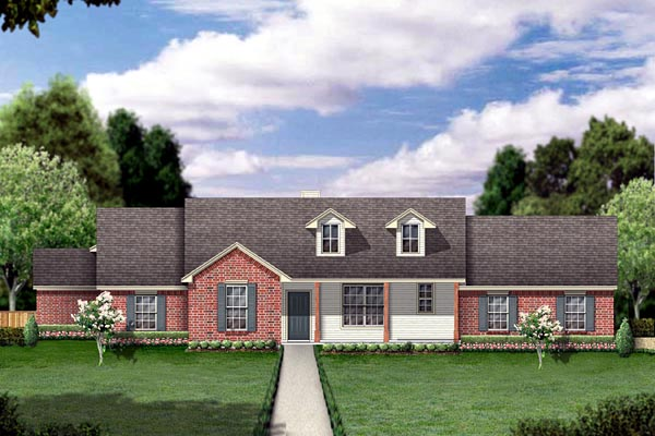 Ranch House Plan 88685 with 4 Beds, 2 Baths, 2 Car Garage Elevation