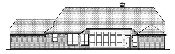 Tudor House Plan 88686 Rear Elevation
