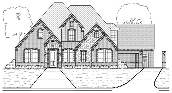 European Tudor House Plan 88689 Elevation