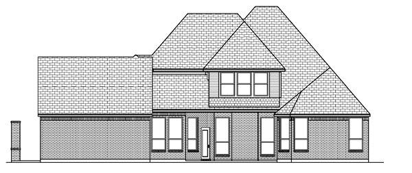 European Tudor House Plan 88689 Rear Elevation