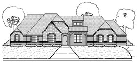 House Plan 88690 | European Tudor Style Plan with 3108 Sq Ft, 4 Bedrooms, 3 Bathrooms, 3 Car Garage Elevation