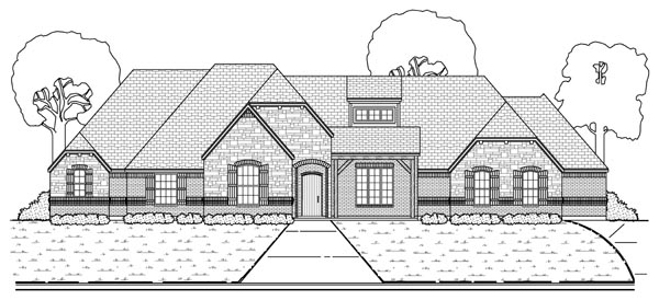 European , Tudor House Plan 88690 with 4 Beds, 3 Baths, 3 Car Garage Elevation