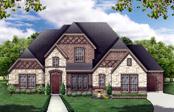 European Tudor House Plan 88691 Elevation