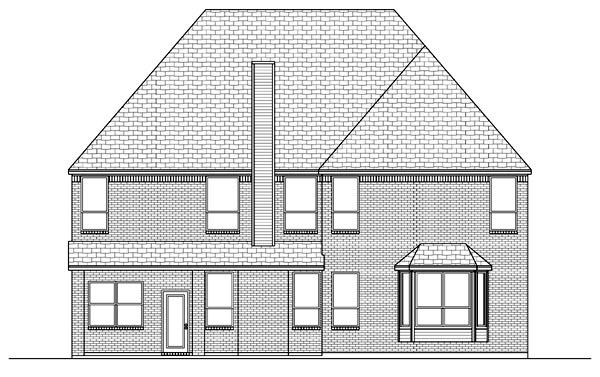 European Tudor House Plan 88692 Rear Elevation