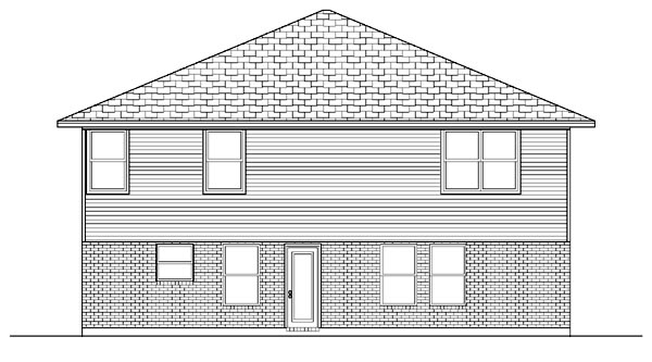 Traditional House Plan 88694 Rear Elevation