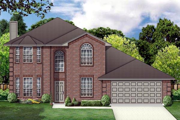 European House Plan 88695 Elevation