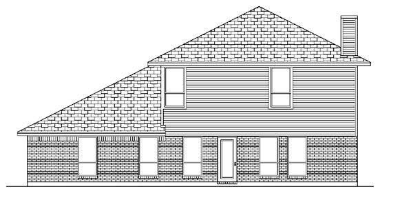 European House Plan 88695 Rear Elevation