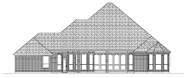 European House Plan 88696 Rear Elevation