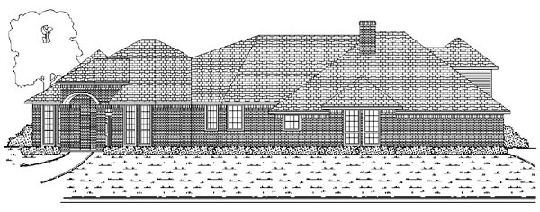 Traditional House Plan 88697 Elevation